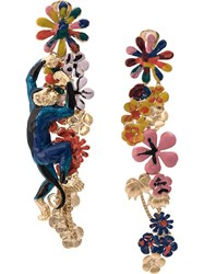 Missoni Climbing Monkey Drop Earrings Multicolour