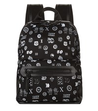 Lanvin Jacquard Badge Print Backpack Unisex Black