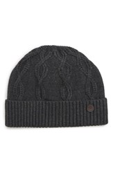 Ted Baker London Cable Knit Beanie Grey Charcoal