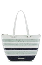 Brahmin Willa Croc Embossed Leather Tote
