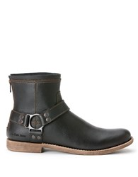 Calvin Klein Palmer Leather Harness Boots Black