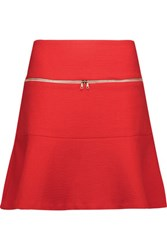 Sandro Joplin Cotton Blend Jacquard Mini Skirt Red