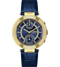 Versus Multifunction Blue Dial Leather Strap