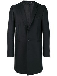 Paul Smith Ps By Single Breasted Fitted Coat Black