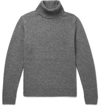 Sandro Wool Yak And Cashmere Blend Rollneck Sweater Gray