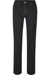 Gold Sign Goldsign The Relaxed Mid Rise Straight Leg Jeans Black
