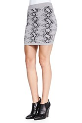 Pam And Gela Snake Print Knit Miniskirt Women's