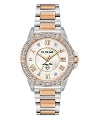 Bulova Two Tone Stainless Steel Band Watch