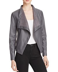 Bb Dakota Peppin Draped Faux Leather Jacket Thunderstorm Grey