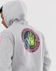 Body Glove Sharpie Fade Hoodie With Back Print In Grey