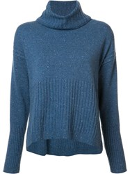 Derek Lam 10 Crosby Cashmere Roll Neck Jumper Blue