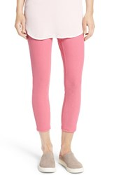 Hue Women's Denim Capris Flamingo Pink