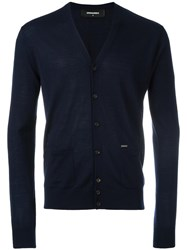 Dsquared2 V Neck Cardigan Blue