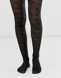 Gipsy Sheer Zebra Tights Multi