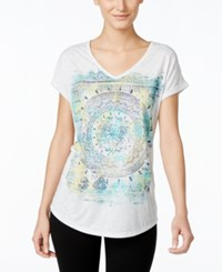 Styleandco. Style And Co. Graphic T Shirt Only At Macy's White Heather
