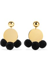 Elizabeth And James Stevie Pompom Embellished Gold Plated Earrings One Size