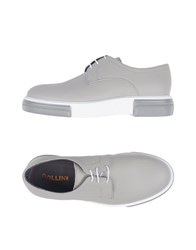 Pollini Lace Up Shoes Grey
