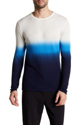 Parke And Ronen Dip Dye Long Sleeve Thermal Shirt Blue