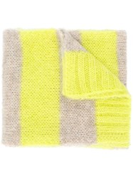 Closed Striped Scarf Yellow