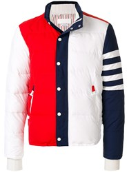 Thom Browne Tricolour Padded Jacket White