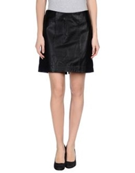 Theyskens' Theory Knee Length Skirts Black