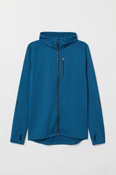 Handm H M Hooded Running Jacket Blue