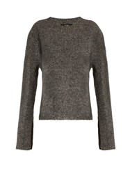 Ellery Valentine Crew Neck Wool Sweater Charcoal