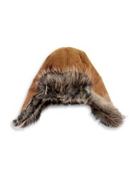 Ugg Shearling And Fur Lined Trapper Hat Chestnut