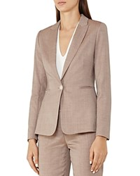 Reiss Turner Wool Blend Blazer Burnt Rose