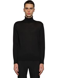 Z Zegna Wool Knit Turtleneck Sweater Black