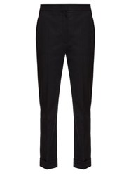 Stella Mccartney Tailored Slim Leg Wool Trousers Black