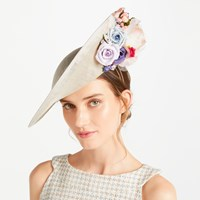 Bundle Maclaren Millinery Carrie Side Up Disc Occasion Hat Ivory