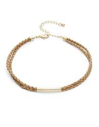 Design Lab Lord And Taylor Braided Choker Necklace Gold