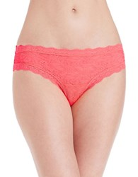 Candc California Lace Cheeky Hipsters Coral