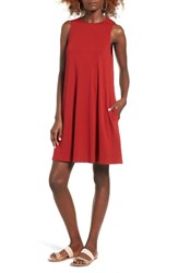 Socialite Women's High Neck Dress Red