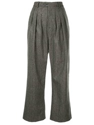 Strateas Carlucci Flared Cropped Trousers Grey