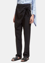 J.W.Anderson Single Knot Wrap Pants Black