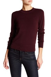 Dkny Cropped Merino Wool Pullover Sweater Red