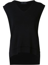Baja East Sleeveless Hoodie Black
