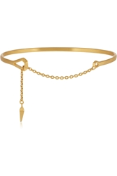 Maria Black Loop Gold Plated Bracelet