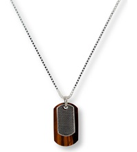 Seven London Tiger Eye Lattice Pendant Sterling Silver