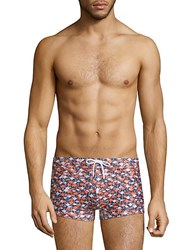 2Xist Flamingo Print Swim Trunks Multi