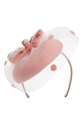 Nordstrom Dot Veil Fascinator Headband Pink Light
