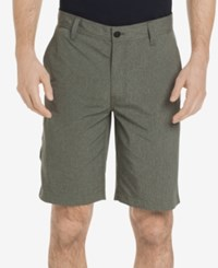 G.H. Bass And Co. Men's Cliff Peak Classic Fit Stretch Performance Heather Hybrid Shorts Olive Night
