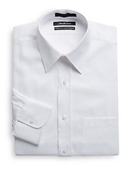 Saks Fifth Avenue Classic Fit Cotton Dress Shirt White