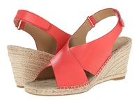 Isaac Mizrahi Iriss Bright Coral Women's Wedge Shoes Gray