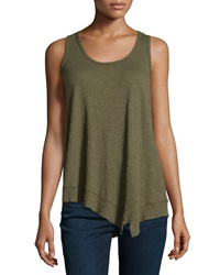 W By Wilt Scoop Neck Knit Tank Top Military