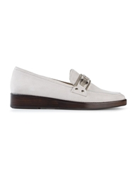 Toga Pulla Metallic Strap Loafers Grey