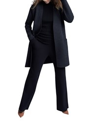 Winser London Double Faced Coat Charcoal Marl Black