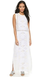 Sea Tribal Lace Maxi Dress White